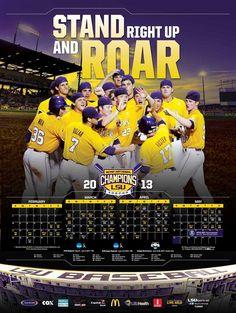 2013 LSU Baseball Poster