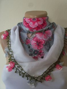 Pink White Gorgeous Turkish Traditional by colourfulrose on Etsy, $22.75
