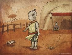 Little Dunmer by Velothii.deviantart.com on @DeviantArt
