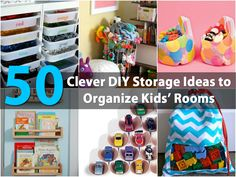 Organizing the kids' rooms can be such a time-consuming task, especially when your kids have more toys than you have storage space. Lucky for you, we've found 50 great storage and organizing projects that you can complete in very little time. The best thing is that these are really cheap to...