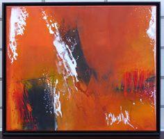 o.T.  Acryl auf Leinwand 50 x 60 cm gerahmt in schwarzem Schattenfugenrahmen Preis auf Anfrage