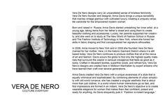 About the Designer: ANNA DAVIS   VERA DE NERO