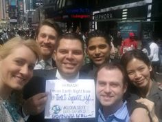 The #CasablancaHotel team's #GlobalSelfie submission to @NASA - National Aeronautics and Space Administration for #EarthDay! #BookLHC #TimesSquare #NYC #Selfie #NASA