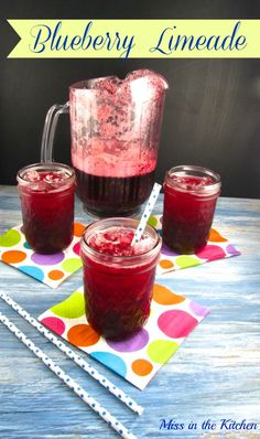Miss in the Kitchen ~ Blueberry Limeade