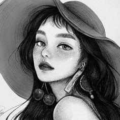 Dear Irene by ssojjjinee on FanBook Girly Drawings, Art Drawings Sketches, Pretty Anime Girl, Anime Art Girl, Red Velvet, Disney Princess Art, Cute Icons, Dark Fantasy Art, Portrait Illustration