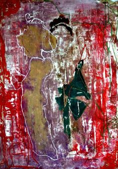 RAMAYANA - 80x60 cm = 31.5x23.5 in - FIGURATIVE lyrical expressionism /// Expresionismo lírico FIGURATIVO - Ask for price (Pregunta precio) - www.freijanez.com/ - freijanez@gmail.com