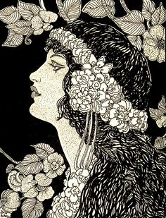 """""""I know a 'face' where the wild thyme blows, Where oxlips and the nodding violet grows, Quite over-canopied with luscious woodbine, With sweet musk-roses and with eglantine."""" William Shakespeare, A Midsummer Night's Dream    Don Blanding illustration"""