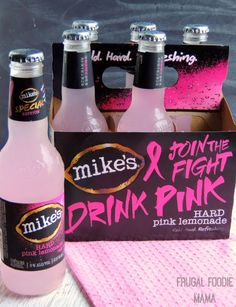 """Drink Pink"" and Join the Fight with mike's hard lemonade via thefrugalfoodiemama.com #mymikesmoment"
