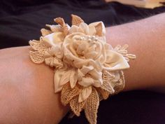 ribbon flower cuff