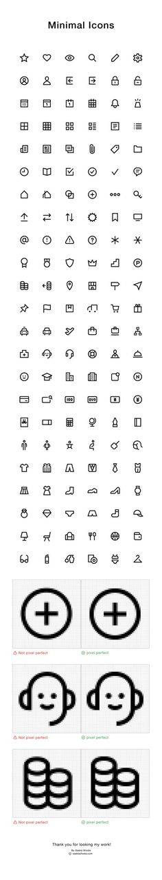 Works | Minimal Icons on Behance By Saeka Shoda: