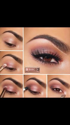 Beautiful Eye make up for brown eyes #naked3pallete