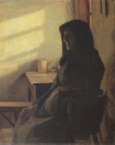 Anna Ancher: A blind woman in her room