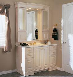 Master bath vanity - but bigger, dark brown, not white.