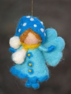 Hey, I found this really awesome Etsy listing at https://www.etsy.com/listing/165467778/needle-felted-christmas-fairy-ornament
