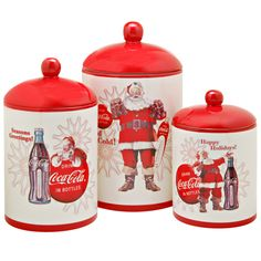 Coca Cola / Coke Holiday Collection Canister Set