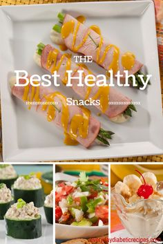 Best Healthy Snacks: These easy snack recipes  will help to curb your appetite and give your body nutrients it may be missing at mealtime. It's OK to snack... just be smart about it!