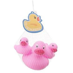 Fill your boots (or your stocking) with a WHOLE FAMILY of rubber duckies! Now in pink!