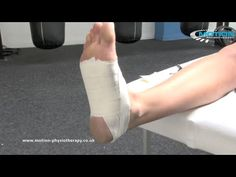 How to tape the foot - plantar fasciitis / fascia pain - sports taping series - YouTube
