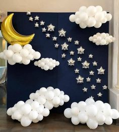 Moon and sky backdrop #photobooth #party...