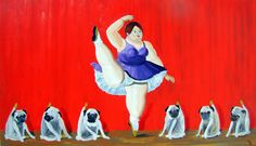 Pug Dog Art Print / Kick Step and Kick Step and... / by dogwagart