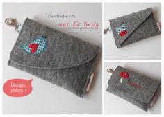 Geldtasche aus Filz Handytasche Design Yours von HaGi by Herzig ♥ Genaehtes auf DaWanda.com
