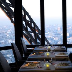 Le Jules Verne, Paris, France : Classic French cuisine at 125 meters in the air on the second floor at the Eiffel Tower