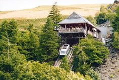 Centre for Alternative Technology, Machynlleth, Wales. Everybody needs to ride a water-powered funicular!