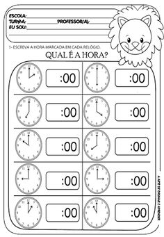 In this kindergarten math worksheet, kids give Melissa Mouse a hand telling time. Kids will look at an analog clock, determine the time, and write the time.