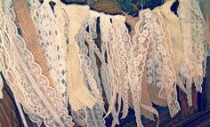 Burlap and Lace Garland= L O V E!