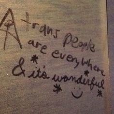 trans people are everywhere & it's wonderful Trans Boys, Trans Man, Emo, Sup Girl, Genderqueer, Graffiti, Positivity, Writing, Feelings