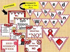RED RIBBON WEEK - weeklong activities (PTA, PTO) by Teaching Kiddos 1