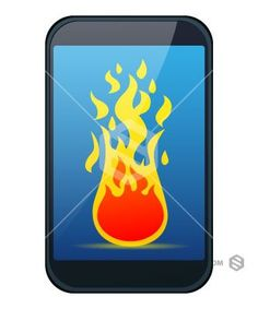 Red Hot Mobile Phone