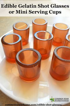 Fill these edible shot glasses with anything you like for a memorable party treat. Use a shot glass mold to create cookies, jello, hard candy or ice cups. Pictured - gelatin shot glasses.