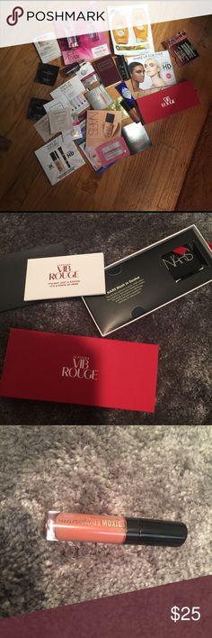 Treasure Trove of Designer Samples!!! VIB Rouge Gift NARS blush in Goulue, Buxom gloss inCenterfold, Bosia cleanser, Milton Brown, Guerlain, Make Up For Ever,Replica perfume, Clean perfume. Urban Decay, Ellis Brooklyn, etc! Makeup