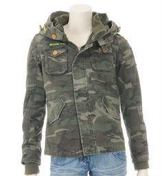 Retour jeans Zomerjas in een all over army print - model Scan - Army - NummerZestien.eu