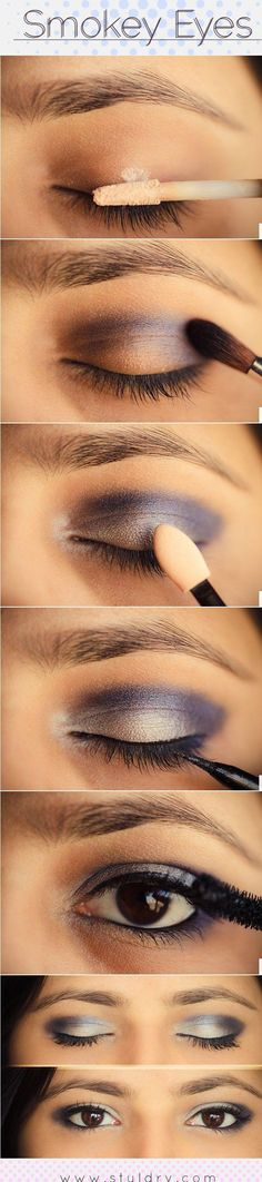 smokey eyes inspiration, I really love this for dark brown eyes!