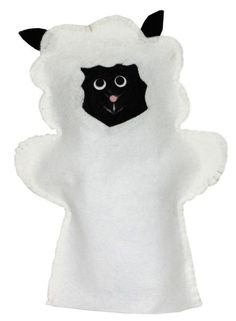 SHEEP HAND PUPPET: The fat white sheep hand puppet is hand crafted out of premium quality felt. The added parts such as eyes, ears and nose are glued on using a non-toxic tacky glue