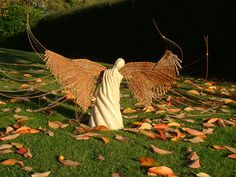 Clay Angel, Fire Clay, Outdoor Furniture, Outdoor Decor, Angels, Angel, Backyard Furniture, Lawn Furniture, Angelfish