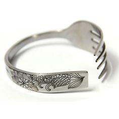 Cornflower Fork-shaped Stainsteel Bracelet