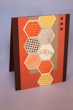 Sweater Weather Birthday by emarcks - Cards and Paper Crafts at Splitcoaststampers Hexagon Cards, Fall Birthday, Birthday Cards For Men, Hexagons, Sweater Weather, Cardmaking, Stamping, Card Ideas, Paper Crafts