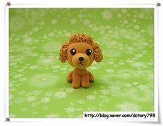 Son las dos y ppanggun hongdan Corazones Yuki (color arcilla-dog): Naver Blog