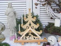Vintage Weihnachtsdeko - Schwippbogen Krippe Holz Leuchter shabby chic - ein Designerstück von artdecoundso bei DaWanda