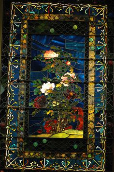 Tiffany Stained Glass by Eric Hunt., via Flickr. Metropolitan Museum of Art, NYC.