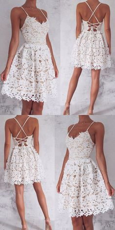 White lace casual everyday dress