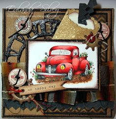 Stampin Up stamp with TH weathered clock die