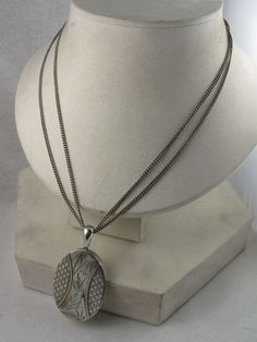 RESERVED FOR R -- Antique Victorian Silver & Gold Aesthetic Locket, from blackwicks on Ruby Lane