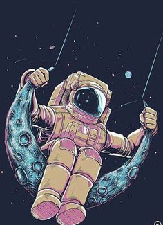 Image shared by M O O N L I G H T.. Find images and videos about moon, space and astronaut on We Heart It - the app to get lost in what you love.