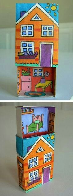 Make a Cute DIY Toy usi… Projects For Kids, Diy For Kids, Craft Projects, Crafts For Kids, Matchbox Crafts, Matchbox Art, Diy And Crafts, Arts And Crafts, Paper Crafts
