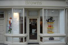 A miniature Stevenson Bros Rocking Horse in the window display of Browns during their Ascot fashion event