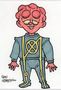 Fred-Hembeck-Color-Sketch-Card-Artie-Maddicks-X-Men-Marvel-1-1